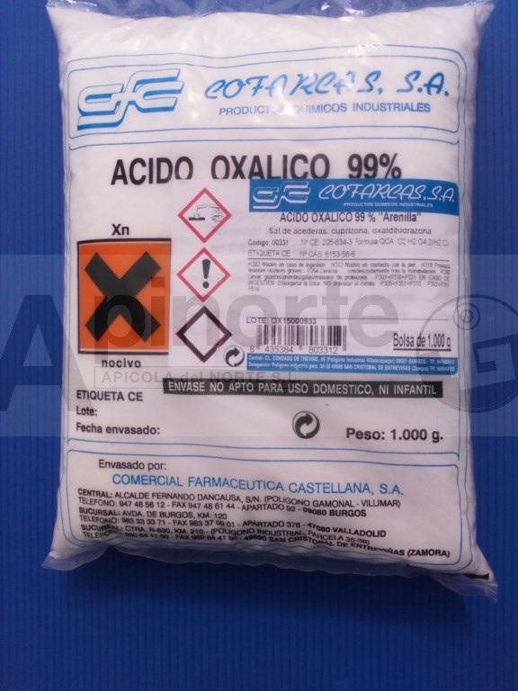 Acido oxálico 99% (bolsa de 1 kg. arenilla) - PRECIOS