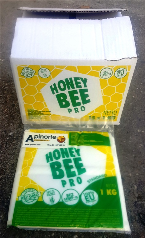 ALIMENTO HONEY BEE PRO CAJA 15 KG. (15 BOLSAS KG.)